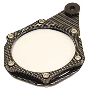 RYDE METAL TAX DISC HOLDER CARBON FIBRE MOTORCYCLE/BIKE/MOTORBIKE/SCOOTER/QUAD/MOPED