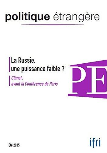 La Russie, une puissance faible ?: Climat : avant la Conférence de Paris