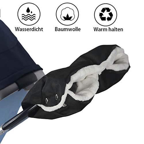 Sinwind Stroller Hand Warmer, Extra Thick Fleece Inner Hand Muff Gloves, Pram Warm Gloves, Universal Size for Pushchairs