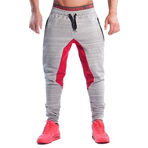 PHIBEE Hombres Pantalón Deportivo Entrenamiento Fleece