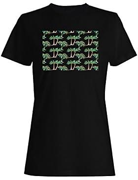 Nuevo Patrón De Palmera De Fondo camiseta de las mujeres h360f
