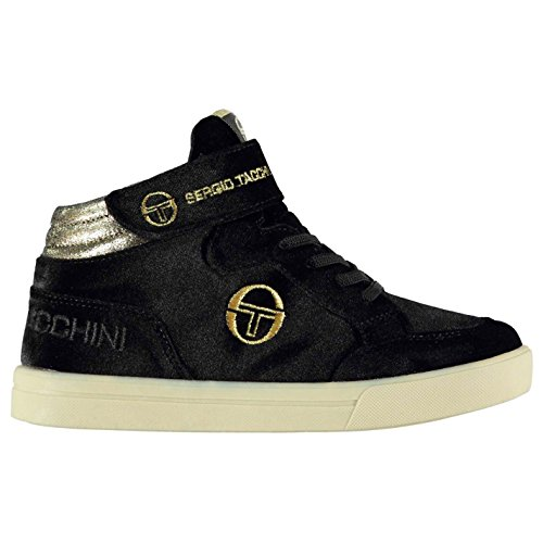 Sergio Tacchini Kinder Base Velvet Hi Top Turnschuhe Black/Gold 28