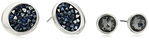 Kenneth Cole New York Black Diamond and Blue Sprinkle Stud Earrings