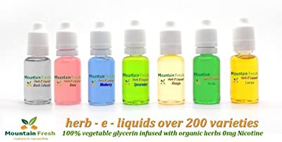 Schlaflosigkeit Mischung Vaprorizer Vape E Flüssigkeit 30ml 100% VG 0 mg Nikotin von Mountain Fresh