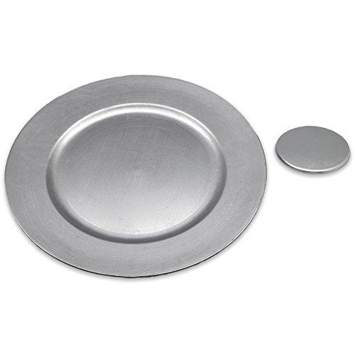 Argon Tableware Assiettes de présentation Rondes et sous-Verres en Argent
