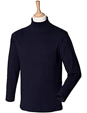 Henbury Roll Neck Long Sleeved Top, Felpa Uomo