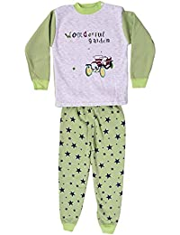 Miss U Baby Boys Baby Girls High Quality Night Suit Regular Comfort Fit Full Sleeves Winter Wear Cotton Blend Top and Pyjama Set with Inner Fur