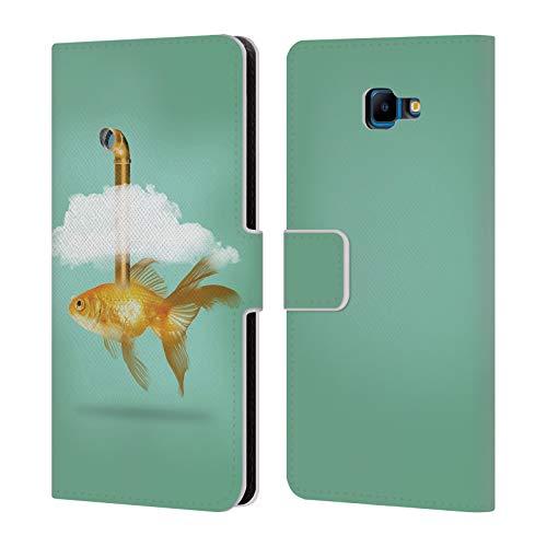 fizielle Vin Zzep Periskop Goldfisch Fisch Brieftasche Handyhülle aus Leder für Samsung Galaxy J4 Core ()