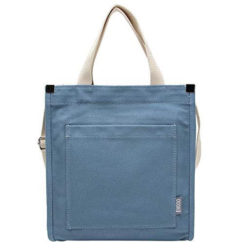 Bedolio Casual Canvas Schultertasche Baumwoll-Canvas-Tasche Simple Wild Messenger Bag Tote, Blau
