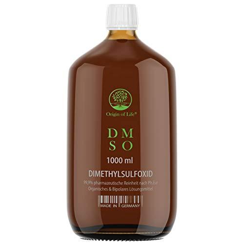 DMSO - 1000 ml - 99,9% Rein - pharmazeutische Reinheit nach Ph. Eur. - unverdünnt – Dimethylsulfoxid – Einführungspreis - ohne Zusatzstoffe - Made in Germany