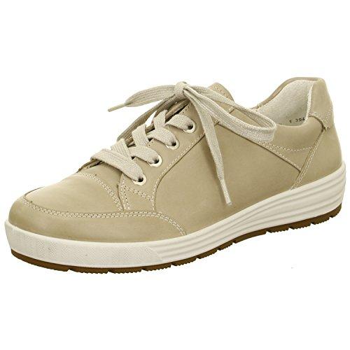 ara Damen Sneaker Beige Aus Leder von Größe 38 bis 42 mit Wechselfußbett Beige