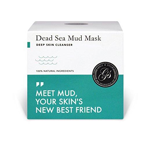 Totes Meer Schlamm Gesichtsmaske Pflege für trockene und unreine Haut Reinigung bei Pickel Mitesser Akne Anti-Aging - Totes Meer Peeling Gesicht