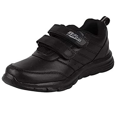 BATA Boys Black Hook and Loop School Shoes 439-6349-1