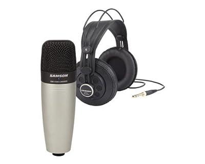 Samson SAC01850 Studio Condenser Microphone and Headphone Bundle