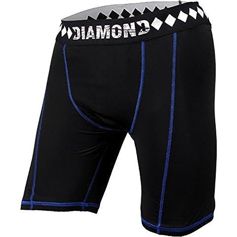 Diamond MMA–Pantalones cortos de compresión con integrado–Suspensorio con Copa de Athletic bolsillo para
