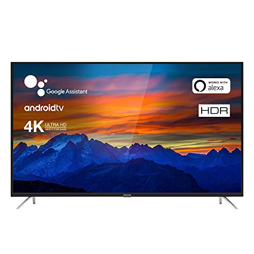 Thomson 65UE6400 Fernseher 165 cm (65 Zoll) Smart TV (4K UHD, Android TV, HDR 10, Micro Dimming Pro, Google Assistant, Alexa kompatibel, Chromecast) Schwarz