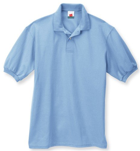 Hanes Herren Comfortblend EcoSmart Jersey Polo Blau - Hellblau