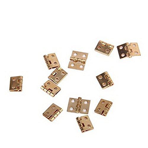 SUOSI Mini Schrankwand T¨¹rscharnier Schublade Kolben Scharniere Puppenstuben Miniatur mit Minischrauben Golden (Pack of 12st)