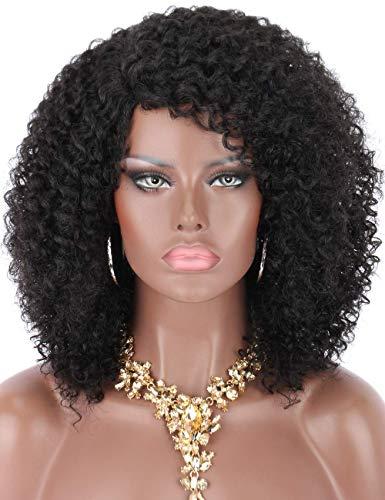 Kalyss schwarze wellige synthetische Perücke Haar Afro verworrene Perücken für schwarze Frauen L-Teil natürliches Aussehen Haar Perücken für Frauen tägliches Gebrauch Haarteil