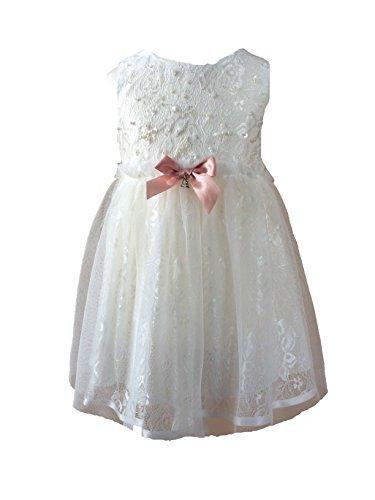 Antonia Taufkleid Festkleid Blumenmädchenkleid Ivory-Weiß (74/80)