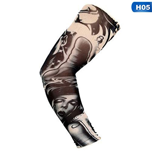 JIANGXI Outdoor riding 3D tattoo print, sun protection bicycle basketball compression gloves riding cuffs cuffs