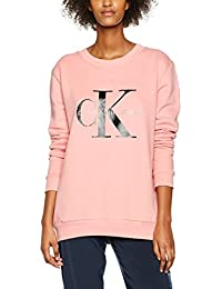 Calvin Klein Jeans Damen Sweatshirt Crew Neck Hwk True Icon Sp17
