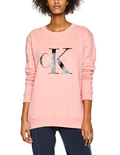 Calvin Klein Jeans Crew Neck Hwk True Icon Sp17, Felpa Donna, Rosa (Mauveglow), 38 (Taglia Produttore: Medium)
