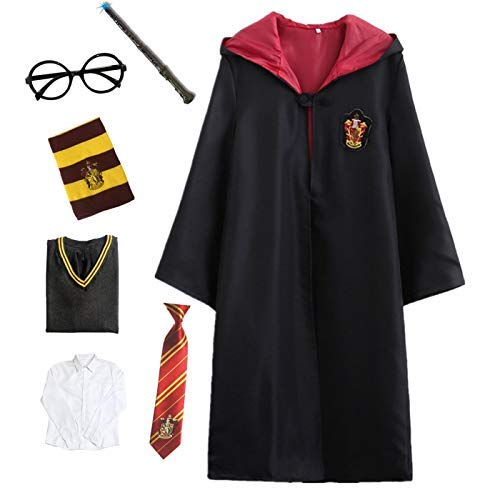 Kostüm Schal Slytherin - Kosplay Harry Potter Kostüm Umhang Kinder Erwachsene Cosplay Gryffindor Slytherin Ravenclaw Hufflepuff Zauberstab Krawatte Schal Brille Karneval Verkleidung Fasching Halloween