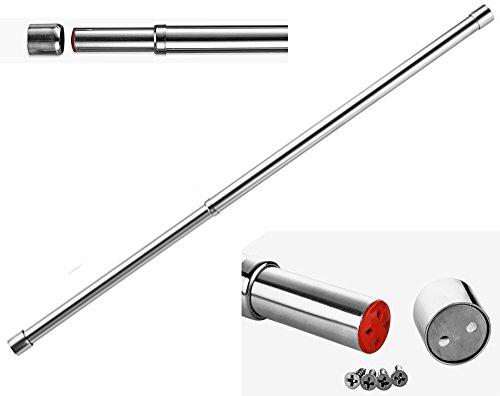 Asta appendiabiti per armadio estensibile, diametro 25mm, lunghezza 57- 97cm, in acciaio inox