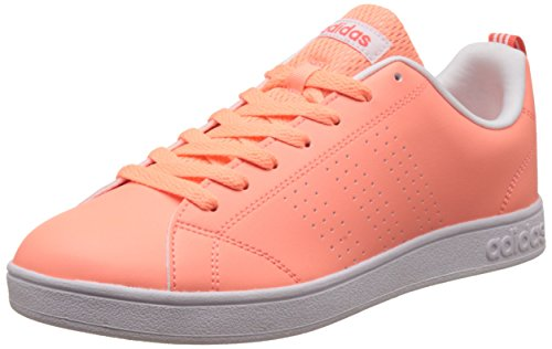 adidas Damen Vs Advantage Clean Tennisschuhe, Orange sunglo/eascor, 40 EU