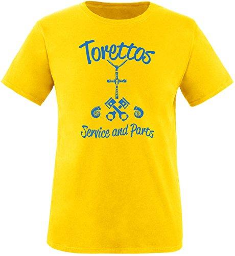 EZYshirt® Torettos service & parts Herren Rundhals T-Shirt Gelb/Blau
