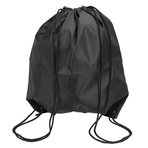 Cordon de serrage Backpack-aolvo étanche durable pliable Vêtements Sac de rangement pour pique-nique Plage Gym Sport de voyage de stockage Noir 50cm