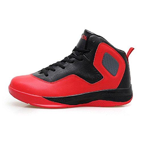 Uomo Il nuovo Antiscivolo Scarpe sportive formatori Aumenta le scarpe Piede di protezione All'aperto Scarpe da pallacanestro Ballerine Taglia larga euro DIMENSIONE 39-47 Red