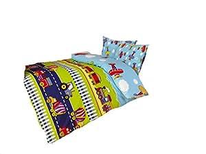 bettw sche baumwolle biber traktor flugzeug 100x135 kinderbettw sche k che haushalt. Black Bedroom Furniture Sets. Home Design Ideas