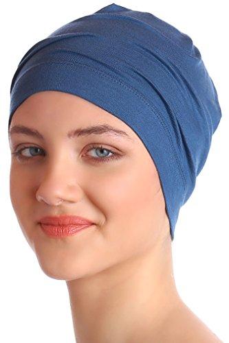 Deresina Cottone & Bamboo Bonnet de Nuit pour Perte De Chimio (Carolina Blue)
