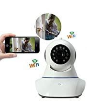 Welrock Wireless 720P Wireless HD Ip Wi-Fi CCTV Video Monitoring Ip Camera with 2 Way Audio Storage Upto 128GB for Your Home Indoor Security Camera | Baby | Pets | Business by WELROCK