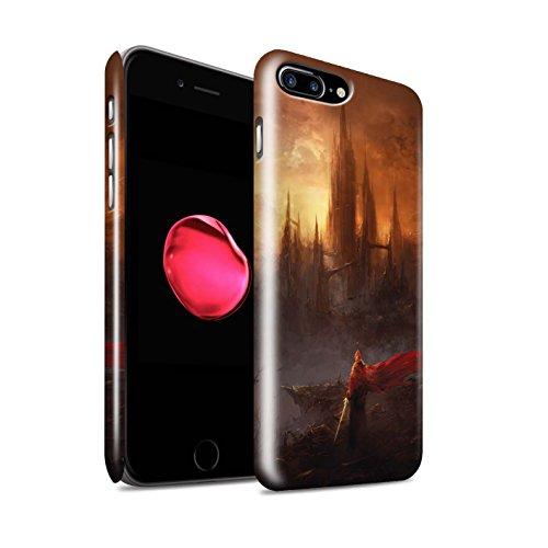Offiziell Chris Cold Hülle / Glanz Snap-On Case für Apple iPhone 7 Plus / Pack 8pcs Muster / Gefallene Erde Kollektion Shadowgate Schloss