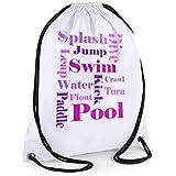 Girls Swim Bag,Girls Text Swimming Kit Bag, Gym Bag, Sports Bag