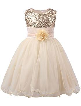 JerrisApparel Kleines Mädchen Paillette Blume Hochzeit Bankett Party Kind Kleid