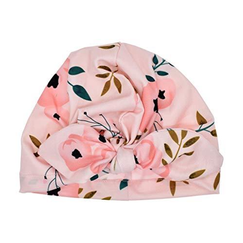 Lazzboy Baby Boy Girl Sun Hat Floral Bowknot Cap Toddler Turban Photo Props Mütze Neugeborene Weich Baumwolle Kleinkind Stirnbänder Mädchen Stirnband(D)