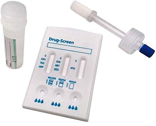 Drogentest Speichel Teststab + Kassette Multi 7 - Speicheltest für 7 gängige Drogenarten
