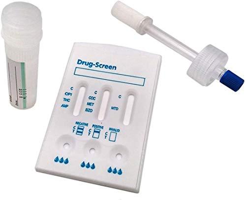 Drogentest Speichel Teststab + Kassette Multi 7 - Speicheltest für 7 gängige - Speicheltest Drogentest