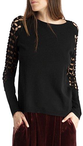 BDBA Sweater, Sweatshit à Capuche Sportswear Femme Noir