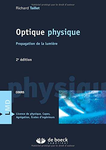 Optique physique : Propagation de la lumière