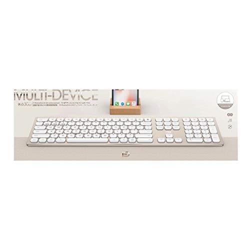 fang FANS Tastatur Die kabellose 2.4G / Bluetooth 4.0-Gaming-Tastatur kann DREI Geräte gleichzeitig für Smartphones/Computer/Desktops/PCs/Laptops/Smart-TVs und Windows 10/8/7 verbinden (Gold) - Vertiefte Fan Licht