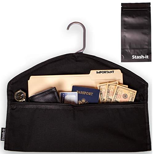 Stash-it - Caja de seguridad para colgar ropa oculta con bolsillo para...