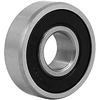 sourcingmap 26mmx10mm de acero inoxidable con doble sellado rodamiento rígido de bolas tono de plata