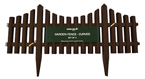 Green Jem Lot de 3 antique Clôture de jardin, Argent, 60 x 3 x 30 cm Pack of 4 marron