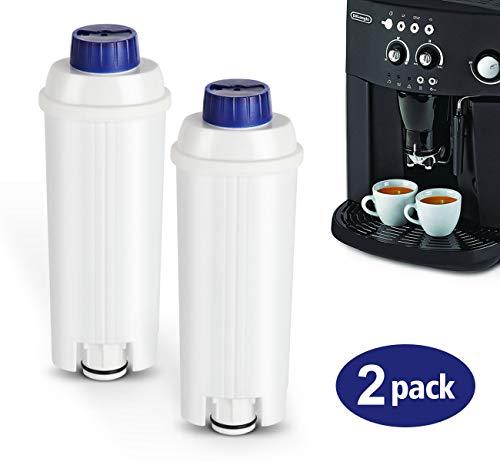 Lemonfilter 2x Filterpatrone Wasserfilter für DeLonghi Kaffeemaschinen Filterpatronen Aktiv Kohle verbessert Geschmack