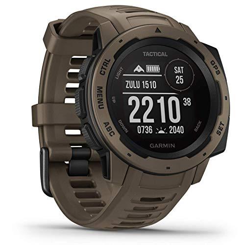 Garmin Instinct Tactical - sehr robuste Outdoor-Smartwatch mit taktischen Funktionen, US-Militärstandard, bis zu 14 Tage Akku, wasserdicht bis 100m, GPS/GLONASS/GALILEO, Kompass, Barometer, Navigation